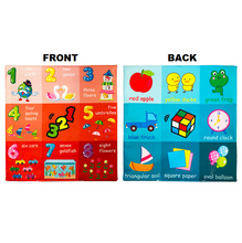 Load image into Gallery viewer, Learning Star - Educational Soft Toy Cloth Numbers and colors Educational Cloth Book