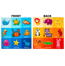 Load image into Gallery viewer, Learning Star - Educational Soft Toy Cloth Sea and land animals Educational Cloth Book
