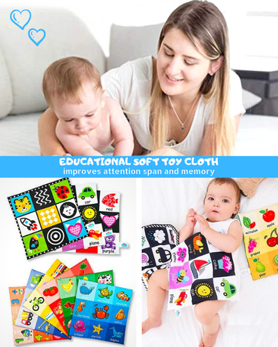 Learning Star - Educational Soft Toy Cloth Sun and shapes Educational Cloth Book
