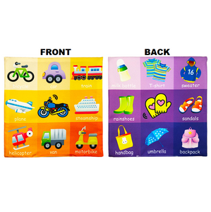 Learning Star - Educational Soft Toy Cloth Vehicles and clothes Educational Cloth Book