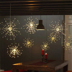 LED String Firework Lights Warm white 150 LEDs Lighting Strings