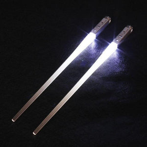 Light-It-Up LED Glowing Chopsticks (1 pair) White Chopsticks