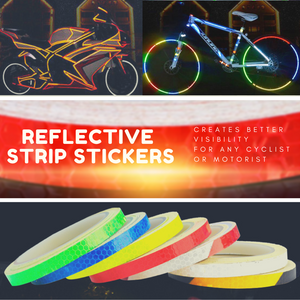 Light Me Up! Reflective Strip Stickers Blue / 1 meter Bicycle Stickers