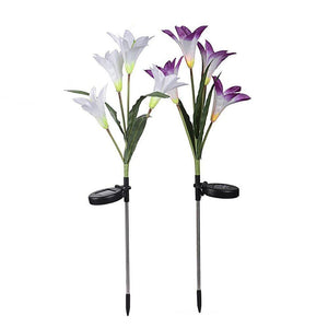 Lovely Lily Solar Powered LED Lights Purple Solar Lamps
