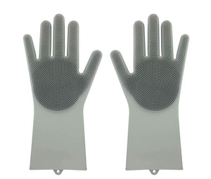 Magic Dish-washing Gloves Pair / Gray Household Gloves