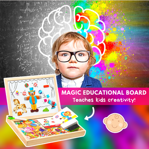 Magnetic Drawing & Puzzle Educational Board Puzzles