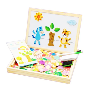 Magnetic Drawing & Puzzle Educational Board Jungle A Puzzles