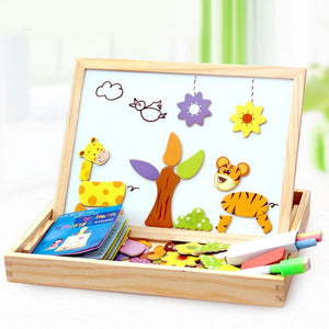 Magnetic Drawing & Puzzle Educational Board Jungle B Puzzles