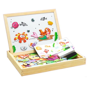 Magnetic Drawing & Puzzle Educational Board Mermaid Puzzles