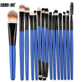 Makeup Brushes & Tools Blue / Black Makeup Brush Set