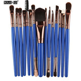 Makeup Brushes & Tools Blue / Bronze Makeup Brush Set