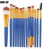 Makeup Brushes & Tools Blue / Gold Makeup Brush Set