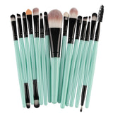 Makeup Brushes & Tools Cyan / Black Makeup Brush Set