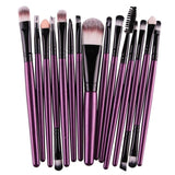Makeup Brushes & Tools Purple / Black Makeup Brush Set