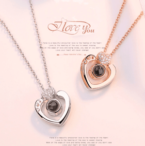 Memory of Love - 100 Languages ILY Necklace Gold Heart Pendant Necklaces