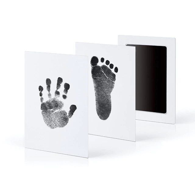 Memory of Love - Baby Hand & Foot Prints Kit (3 pcs set) Black Hand & Footprint Makers