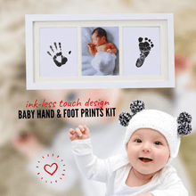 Load image into Gallery viewer, Memory of Love - Baby Hand & Foot Prints Kit (3 pcs set) Black Hand & Footprint Makers