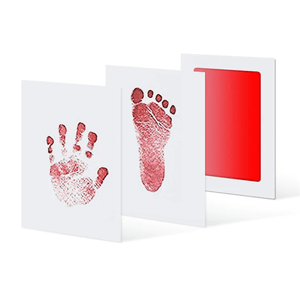 Memory of Love - Baby Hand & Foot Prints Kit (3 pcs set) Red Hand & Footprint Makers