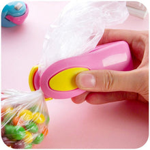 Load image into Gallery viewer, Mini B - Portable Mini Bag Sealer Pink Bag Clips