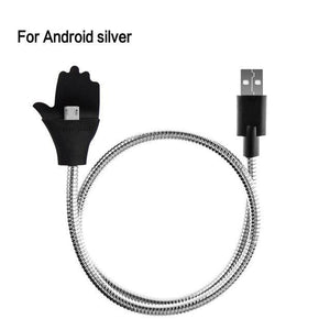Mobile Phone Cables For Android Silver Flex Car Phone Holder + USB Charger