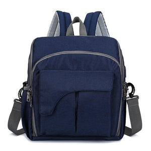 Multi-Functional Baby Diaper Chair Bag Blue Diaper Bags