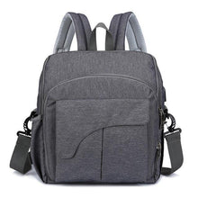 Load image into Gallery viewer, Multi-Functional Baby Diaper Chair Bag Dark Gray Diaper Bags