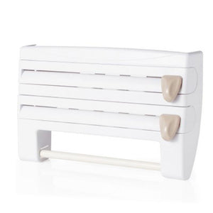 Multi-functional Roll Holder (4 in 1 Rack) White Kitchen Ware