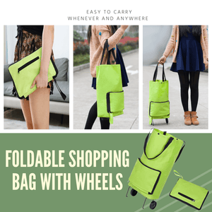 Multi-purpose Easy Carry Shopping Bag Basic green Shopping Bags