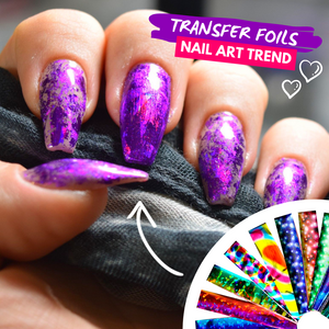 Nail Art Transfer Foils Set 1 Stickers & Decals