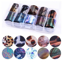 Load image into Gallery viewer, Nail Art Transfer Foils Set 5 Stickers & Decals
