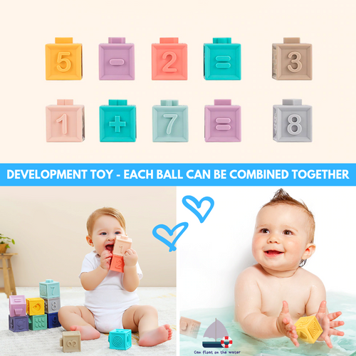 New 2019 Development 3D Blocks Baby Toy 12 pcs set Baby Blocks