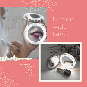 New Generation - Natural Beauty Mirror Lamp Gold Makeup Mirrors