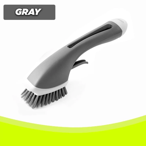 No-Slip Automatic Liquid Filling Brush Gray Cleaning Brushes