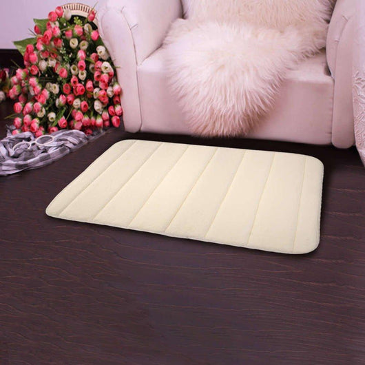 Non-Slip Soft Bath Mat Beige Bathroom Accessories Sets