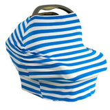 Nursing Covers Blue & White Stripe 5 in 1 Baby Car Seat Cover and Nursing Cover