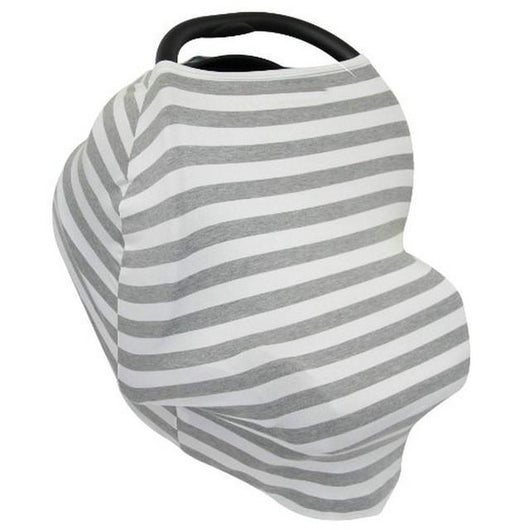 Nursing Covers Grey White Stripe 5 In 1 Baby Car Seat Cover And