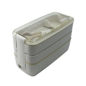 On-the-Go 3 Layered Lunchbox Beige Lunch Boxes
