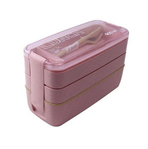 On-the-Go 3 Layered Lunchbox Pink Lunch Boxes