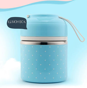 On The Go Lunch Box Blue 1 Layer Lunch Box