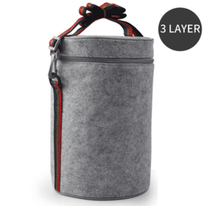 On The Go Lunch Box Insulated Bag 3 Layer Lunch Box
