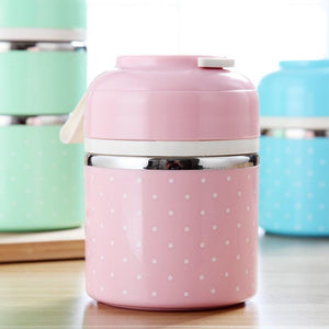 On The Go Lunch Box Pink 1 Layer Lunch Box