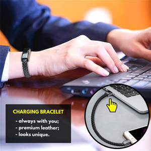 On-the-Go USB Charging Bracelet Micro / S Mobile Phone Chargers