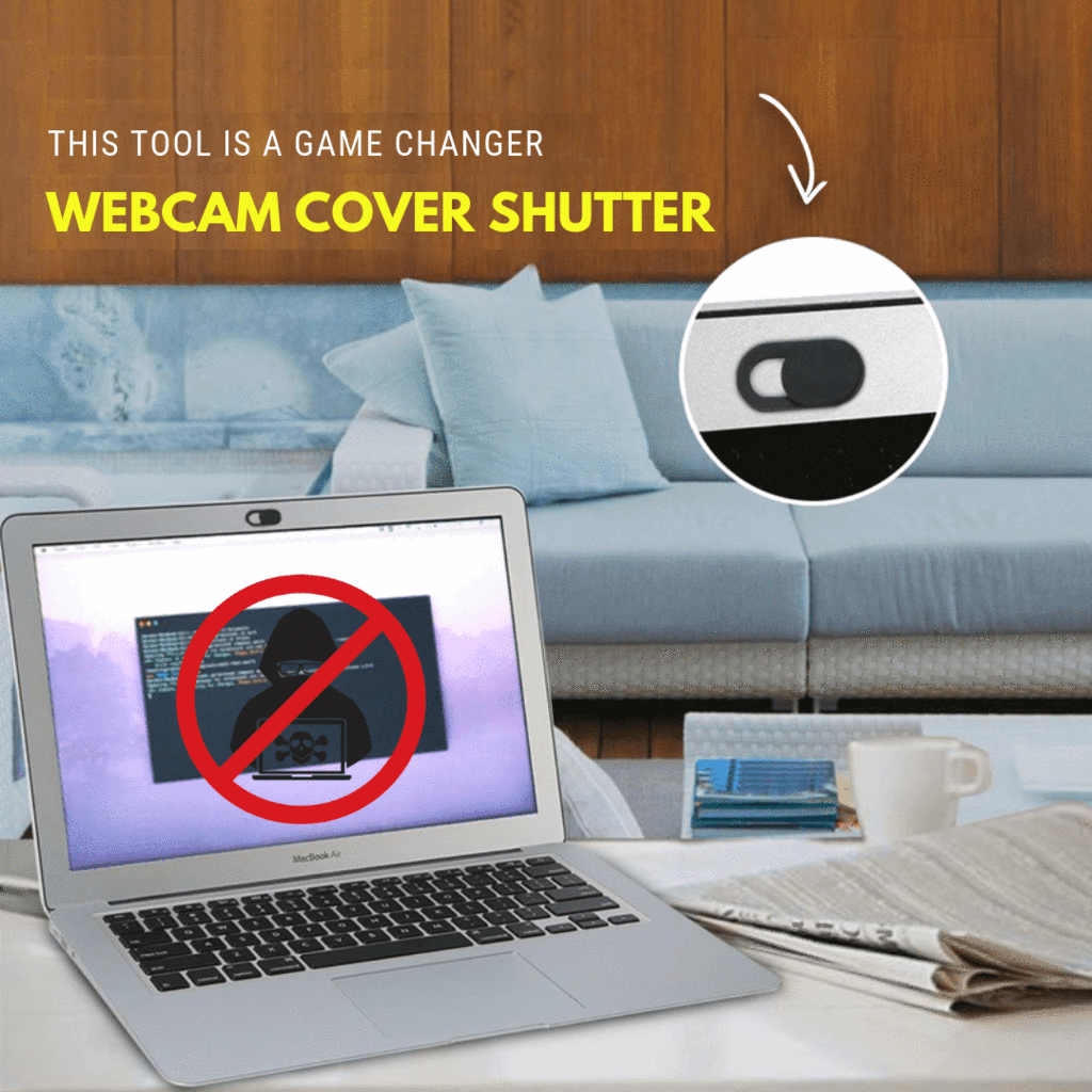 One Slide Protection - Webcam Cover (3 pcs set) Black Webcam Covers