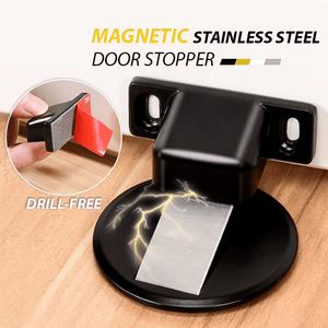 One-Stop Magnetic Door Stopper Black Door Stops