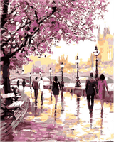 Painting & Calligraphy Cherry Blossoms PaintPro® DIY Painting by numbers kit