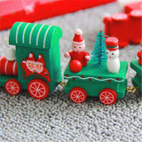 Pendant & Drop Ornaments green - 2pcs Woody- Wooden Christmas Train - 2pcs