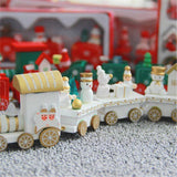Pendant & Drop Ornaments white - 2pcs Woody- Wooden Christmas Train - 2pcs