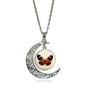 Pendant Necklaces 7 Moon Pendant White Horse Necklace