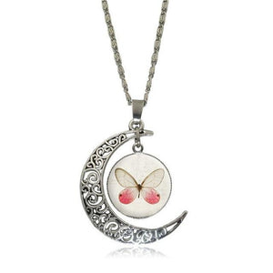 Pendant Necklaces 8 Moon Pendant White Horse Necklace