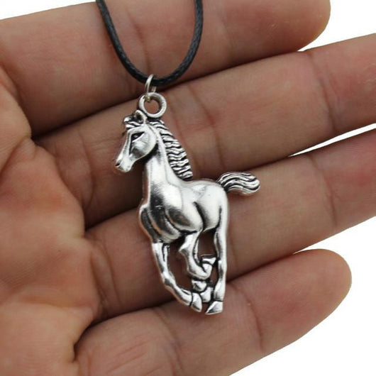 Stainless Steel Horse Pendant Necklace